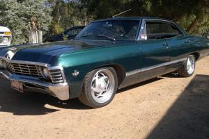 Chev Impala 1967 Pillarless 4 Door Hardtop BBC 454 Turbo 400 9 Inch Diff RHD in Deep Lead, VIC