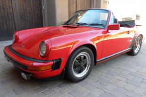 1983 911SC Cabriolet 50,870 Miles Fully Documented. Window Sticker Limited slip.
