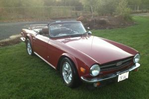 1974 Triumph TR6 Convertible 3.4L chevy v6 with fuel injection, 5 speed overdriv