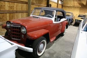 Rare Vintage 1950 Willys Overland Jeepster Phaeton VJ-673 Convertible 3 Speed OD