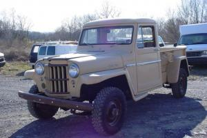 1961 WILLYS 4X4 PICK UP TRUCK 90K ACT. MILES, 6CYL. 4 SPEED COOL OLD TRUCK!