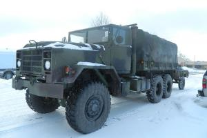 1987 AMERICAN TANK MILITARY 5 TON TACTICAL CARGO TRUCK WITH TRAILER