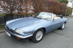 1989 JAGUAR XJ-S XJS CONVERTIBLE 5.3 V12 AUTO BLUE *12 MONTHS MOT* Photo