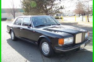 1989 Bentley Turbo R Black with Black & Red Piping Photo