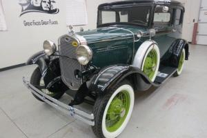 "1931 Ford Model A ""Victoria"" 2 Dr.Coupe W/ dual side mounts body off restoration"