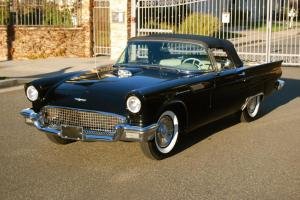 1957 Ford Thunderbird, CA rust-free, 2 owners, excellent throughout