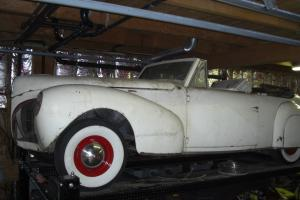 Barn Find 1940 Lincoln convertible