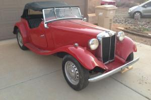 1951 MG-TD Roadster, red, was kept in dry storage, solid car, excellent weekend