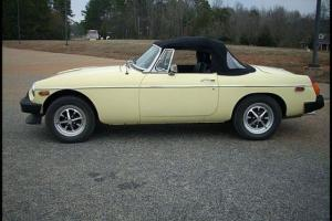 1979 MG B Roadster Convertible Yellow NEW TOP Full Restoration Photo