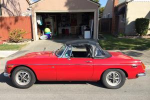 Red 1971 MGB Photo