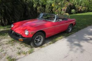 1980 MG MGB MK IV Roadster Convertible 1.8L B-s 4-spd