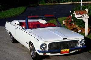 1963 PLYMOUTH VALIANT V-200 CONVERTIBLE - SHOW CAR QUALITY - VERY RARE -