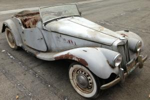 1954 MG TF 1250 ROADSTER. BLACK PLATE,CA BARN FIND. VERY ORIGINAL.STORED 45 YRS!