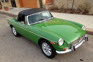 1973 MGB Roadster Hardtop! Minililtes! Hard to find in this condition Photo