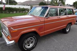 1977 Jeep Wagoneer, Orange, Low Miles, 360 V8, All Wheel Drive