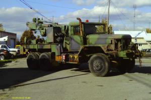 1985 AM General Military Wrecker with hydraulic crane and winch
