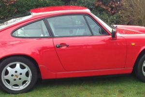 1989 PORSCHE 911 CARRERA 2 COUPE RED 964 guards red 3.6 manual
