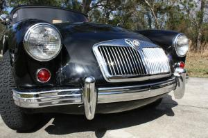 1959 MGA Coupe Original colors Black Red, Fantastic Chrome
