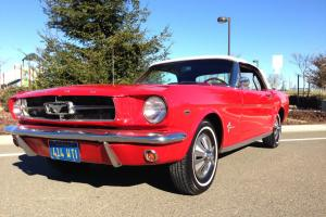 1964 1/2 65 FORD MUSTANG CONVERTIBLE! 289 V8! POWER TOP! 50TH ANNIVERSARY!
