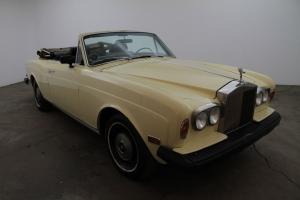 1975 Rolls-Royce Corniche Convertible, left hand drive, pale yellow, power top,