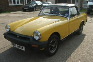 1980 MG MIDGET 1500 YELLOW