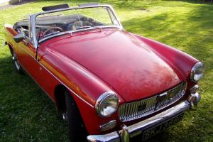 MG MIDGET RED 1969 huge history file