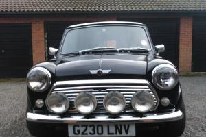 1990 ROVER MINI BLACK WITH WHITE ROOF Photo