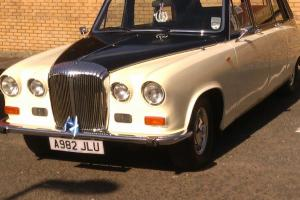 1984 DAIMLER LIMOUSINE AUTO BLACK / CREAM CONVERTABLE CLASSIC WEDDING CAR Photo