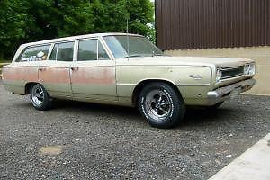 1968 PLYMOUTH SPORT SATELLITE WAGON - CALI IMPORT - UK REG - TAX + MOT - NO RUST