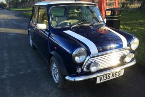 1999 ROVER MINI COOPER BLUE/WHITE ONLY 19000 MILES **OVER 30 PHOTOS** Photo