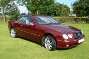 2001 MERCEDES CL500 AUTO. Titanite Red. Distronic. Low milage ,46k
