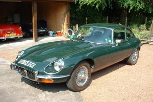 !971 Series III V12 5.3litre e-type. BRG. fhc. 41K miles. 3 previous owners. Photo