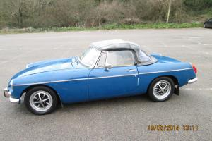MGB Roadster, 1970, Teal Blue