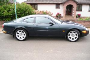 LOW MILEAGE JAGUAR XK8 COUPE AUTO GREEN 4.0 V8, PRIVATE PLATE