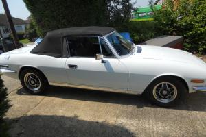 Triumph Stag MK2 White Auto Photo