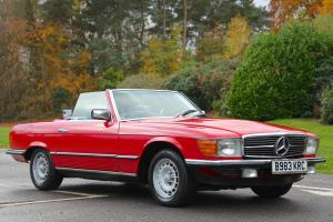 1985 MERCEDES 280 SL RED