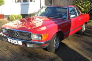 1984 MERCEDES 280 SL AUTO RED CONVERTIBLE (HARD & SOFT TOP)