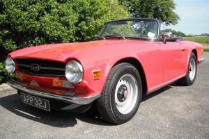 EXCELLENT 1970 TRIUMPH TR6 150BHP UK CAR IN RED MANUAL OVERDRIVE TAX EXEMPT  Photo
