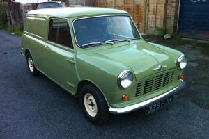 AUSTIN MORRIS MINI VAN MK1 1963 SMOOTH ROOF WILLOW GREEN MOTED TAXED BARGAIN!