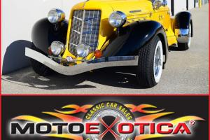 1936 AUBURN SPEEDSTER 876 REPLICA-CALIF CUSTOM COACH-DESIRABLE YELLOW AND BLACK