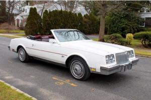 1985 Buick Riviera 2dr Coupe CONVERTIBLE LOW MILES FLAWLESS Mint Service History
