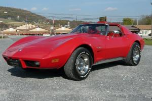 1976 Red Corvette Red Leather Interior 4spd Numbers Matching! Very Nice! Photo