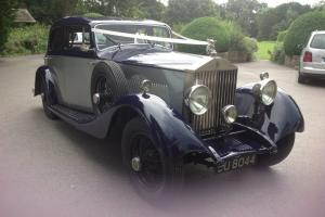 STUNNING 1928 SILVER & BLUE ROLLS ROYCE !! Photo