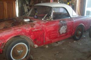 BARN FIND PROJECT 1961 SUNBEAM ALPINE CONVERTIBLE