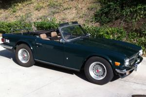 1974 Triumph TR-6 Jaguar British Racing Green WITH overdrive