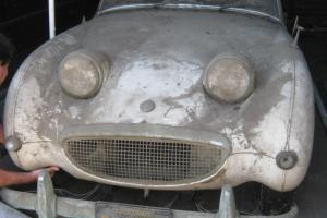 1960 Austin Healey Bugeye Sprite Ca. BARN FIND BLACK PLATE same owner since 1961