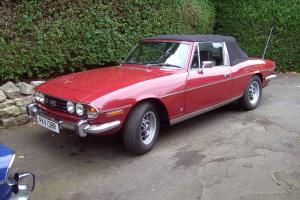 1976 TRIUMPH STAG V8 MANUAL / OVERDRIVE IN CARMINE RED / BLACK INTERIOR Photo
