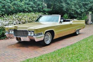 Amazing 1969 Cadillac Deville Convertible cold a/c drive this car coast to coast