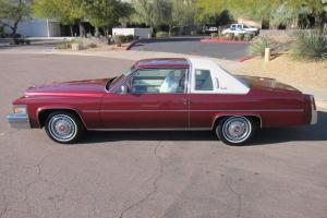 COUPE DEVILLE PRIME / ROSE / RED / WHITE VINAL TOP ALL LEATHER INTERIOR