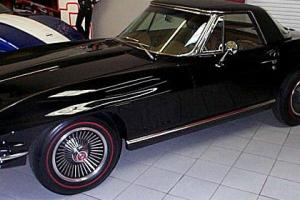 1967  CORVETTE CONVERTIBLE 327/300/4SP-BLACK/WH- INCLUDED WITH PURCHASE OF HOME.